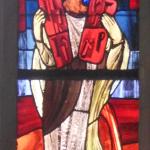 Mose im Kirchenfenster Apsis St. Katharinen